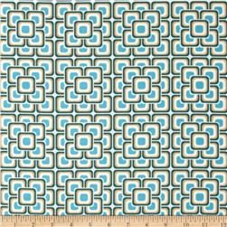 Art Gallery Legacy Grand Mosaic Blue Fabric