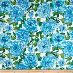 Ambrosia Floral Big White/Blue