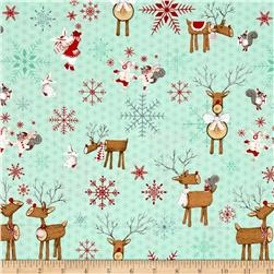 Joy, Love, Peace Reindeer Blue