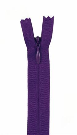 "7/9"" Poly Invisible Zipper Purple"