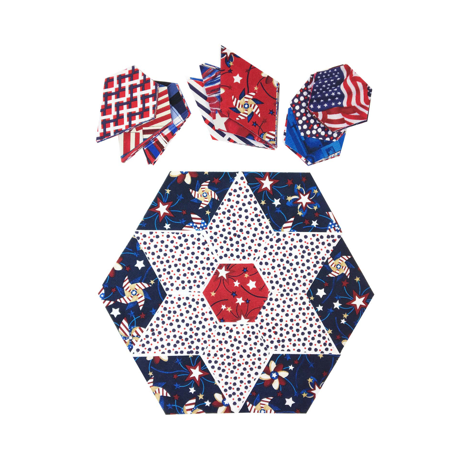 INOpets.com Anything for Pets Parents & Their Pets Fabric.com Patriotic Jewel Star 32'' Kit Multi - Exclusive