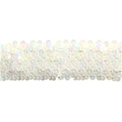 Team Spirit 1 1/2''  #68 Sequin Trim White Iris