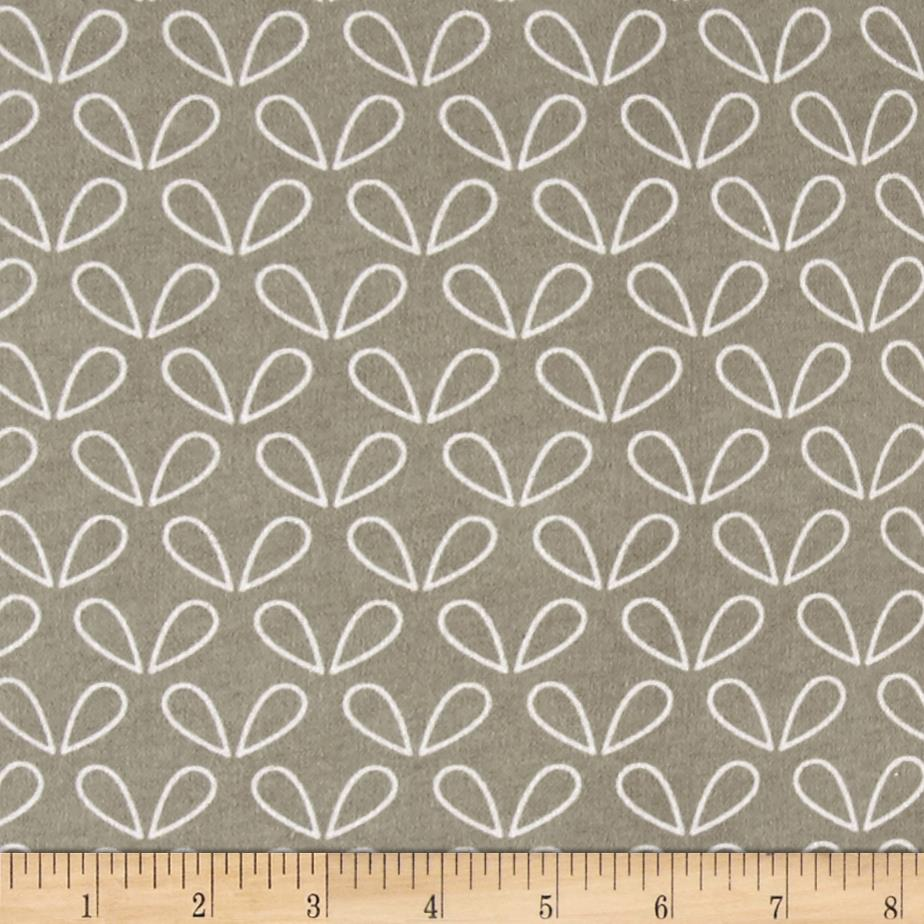Comfy Flannel Leaves Gray