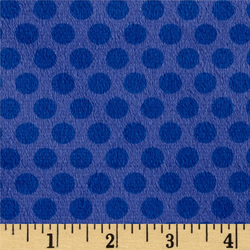 Minky 2 Tone Dot Dark Blue