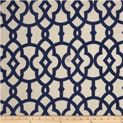 Home Accents Jotto Flocked Navy Fabric