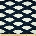 Premier Prints Chazz Slub Premier Navy Blue
