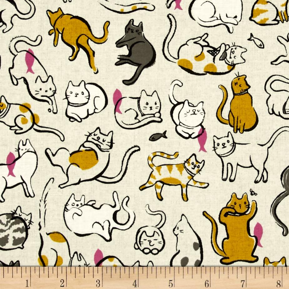 Cotton + Steel Cat Lady Schmitties Mustard