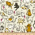 Cotton & Steel Cat Lady Schmitties Mustard