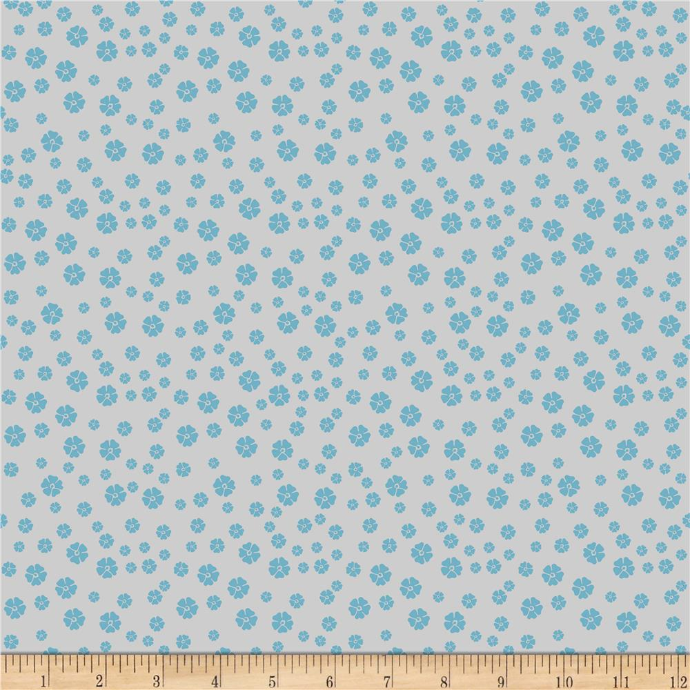 Riley Blake RoseCliff Manor Blossoms Teal