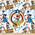 Camelot Flannel Girl Power Wonder Woman White/Multi