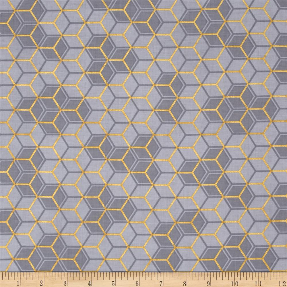 Clarabelle Metallic Hexies Gray/Gold