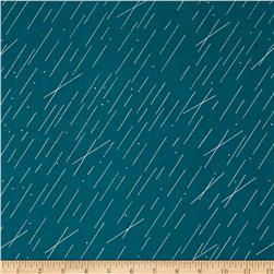 Cotton + Steel Raindrop Metallic Precipitation Teal