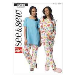 Butterick Misses' Top and Pants Pattern B5910 Size 0A0
