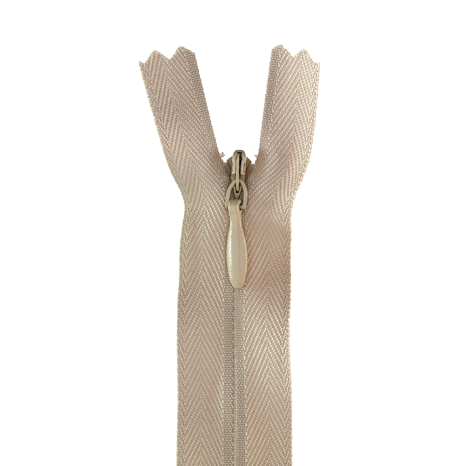 Picture of 12-14'' Poly Invisible Zipper Ecru