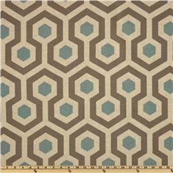 Premier Prints Magna Blend Cadet/Oatmeal Fabric