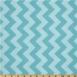 Riley Blake Chevron Medium Tonal Aqua