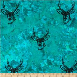 Indian Batik Animal Planet Stag Teal