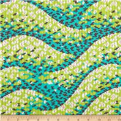 Amy Butler Glow Geo Wave Lime Fabric