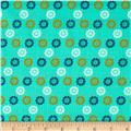 Cotton & Steel Mustang Daisies Teal