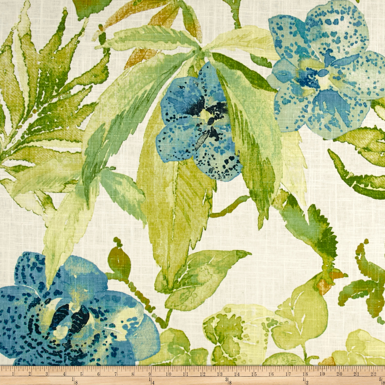 Richloom Galapagos Linen Lapis Fabric by TNT in USA