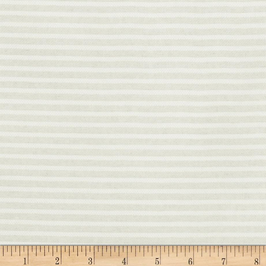 Duralee 118'' Striped Sheers White Fabric By The Yard