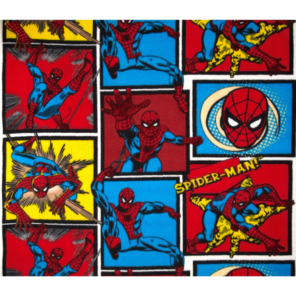Marvel Comics Spiderman Fleece Blue/Red