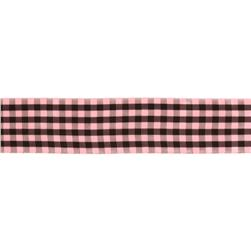 1.5'' Gingham Ribbon Pink/Brown