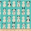 Cotton + Steel Noel Snow Babies Mint