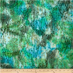 Indian Batiks Pussy Willow Teal