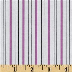 Citrus Thick & Thin Stripe Grape Fabric
