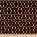 Moda Farm Fun Chicken Wire Dark Chocolate Milk