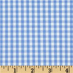 Gingham Shirting Light Blue