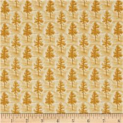 Native Pine Pine Tree Tonal Gold