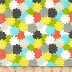 Floral Fairground Packed Floral Gray