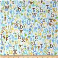Riley Blake Snips & Snails Alphabet Blue
