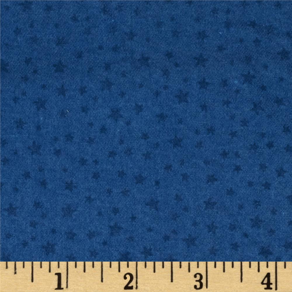 Riley Blake Rodeo Rider Flannel Rodeo Stars Blue