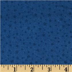 Riley Blake Rodeo Rider Flannel Rodeo Stars Blue Fabric
