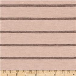 Jersey Knit Brown Stripe