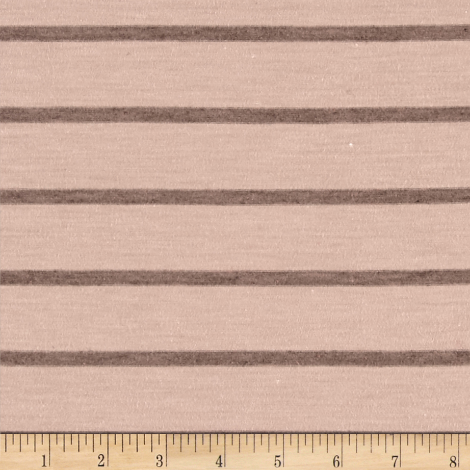 Jersey Knit Brown Stripe Fabric by Bellagio in USA