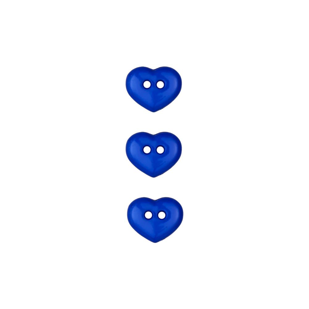 Dill Novelty Button 1/2'' Heart Royal Blue