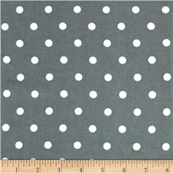 Robert Kaufman Cozy Cotton Flannel Medium Dot Grey