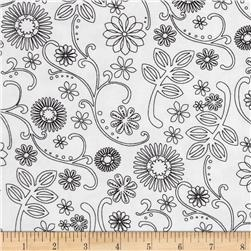 "110"" Wide Quilt Back Signature White/Black"