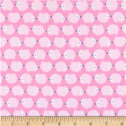 Riley Blake Wildflower Meadow Flannel Hedgehogs Pink