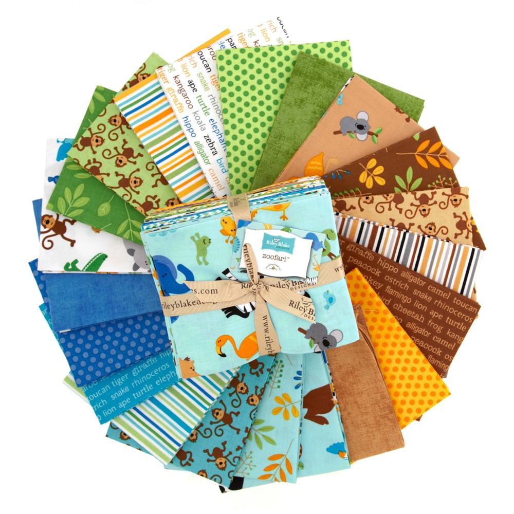 Riley Blake Zoofari Fat Quarter Assortment