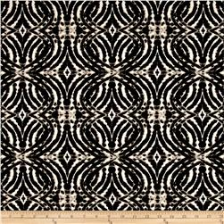 ITY Knit Circle Optical Print Illusion Black/White