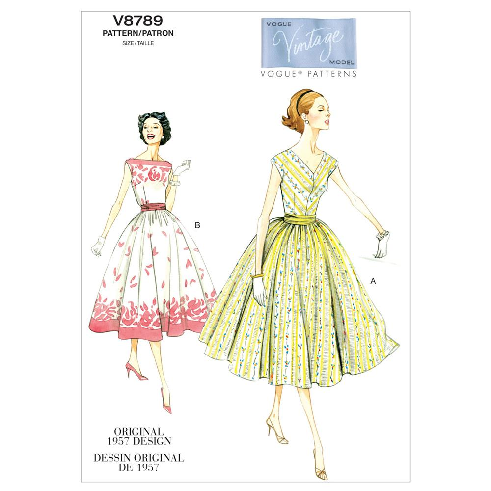 Vogue Misses'/Misses' Petite Dress and Cummerbund Pattern V8789