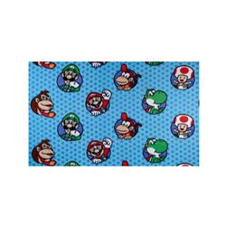 Nintendo Super Mario Character Bubbles Fleece Blue