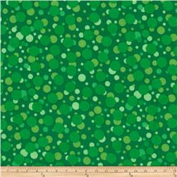 Turtle Time Flannel Dots Green