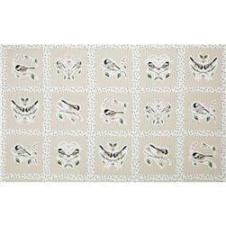 Chickadee Panel Framed Birds Taupe