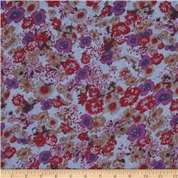 Floral Chambray Purple/Maroon/Brown